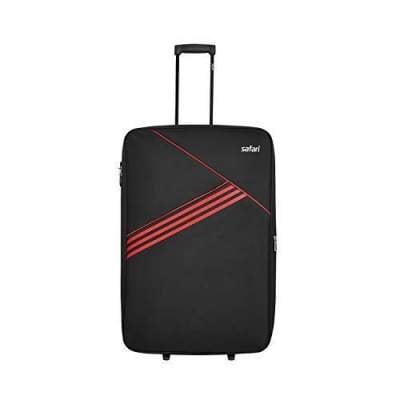Safari Angle Polyester Black Cabin 2 Wheels Soft Suitcase